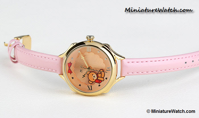 Classic Teddy Bear Mini Watch Pink Gold 3