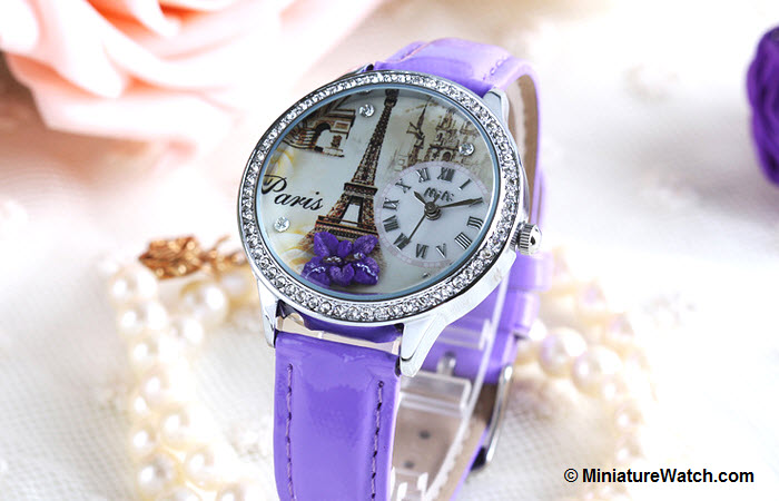 Elegant Paris Mini Watch Purple 1