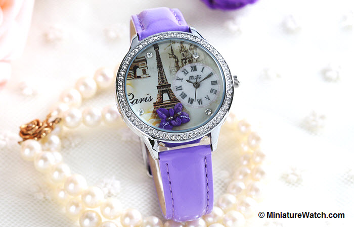 Elegant Paris Mini Watch Purple 2