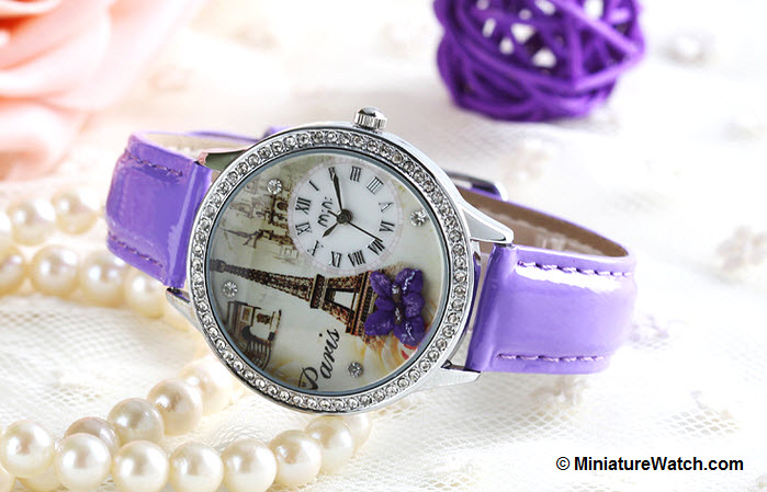 Elegant Paris Mini Watch Purple 3