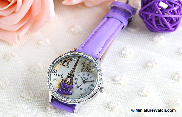 Elegant Paris Mini Watch Purple 4