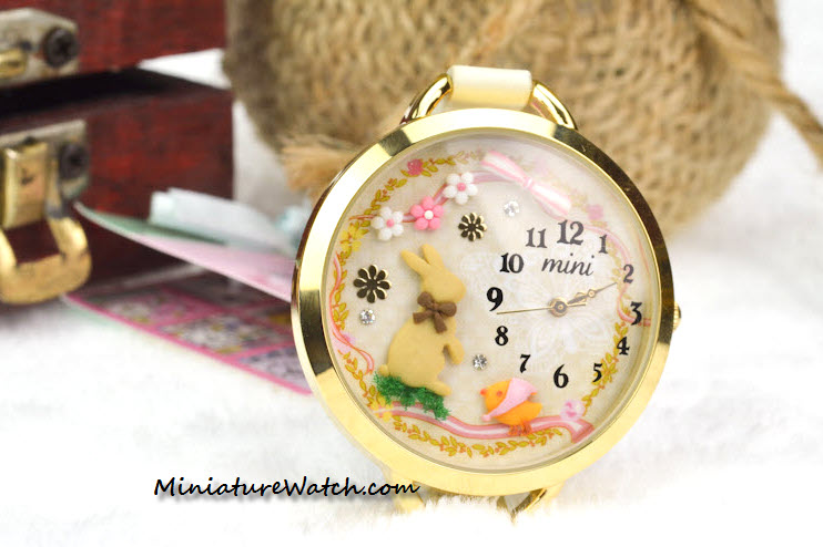 Gold Rabbit Mini Watch