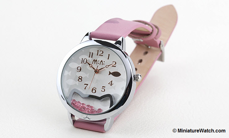 Kitty Fish Mini Watch Pink 1
