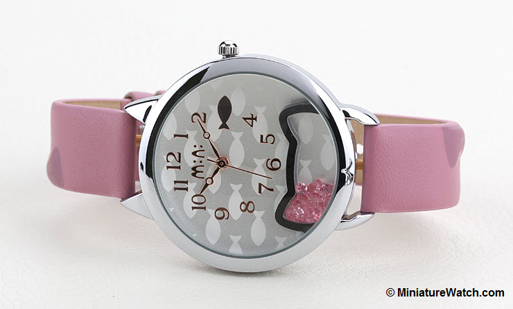 Kitty Fish Mini Watch Pink 2