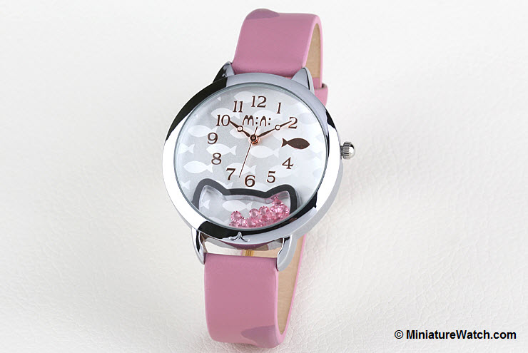 Kitty Fish Mini Watch Pink 3