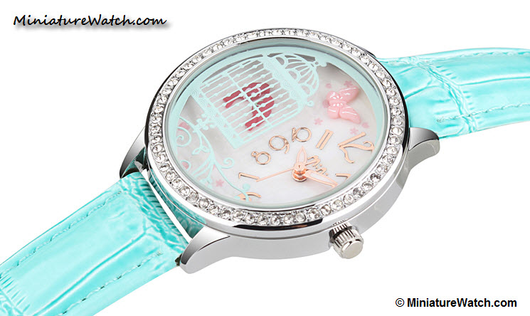Lovely Birds Couple Mini Watch Blue 1