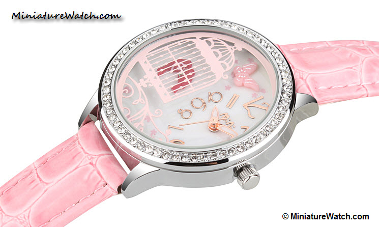 Lovely Birds Couple Mini Watch Pink 1
