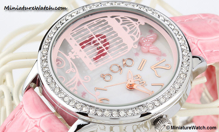 Lovely Birds Couple Mini Watch Pink 2