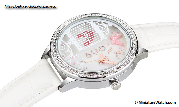 Lovely Birds Couple Mini Watch White 1