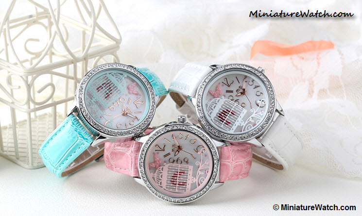 Lovely Birds Couple Mini Watch