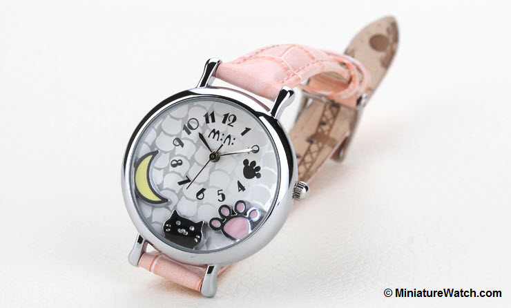 Moonlight Kitty Mini Watch Pink 1