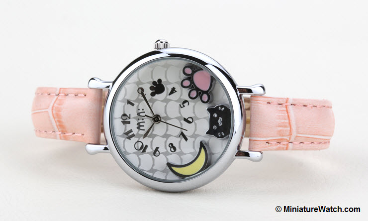 Moonlight Kitty Mini Watch Pink 2