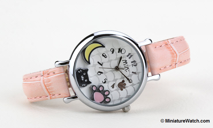 Moonlight Kitty Mini Watch Pink 3