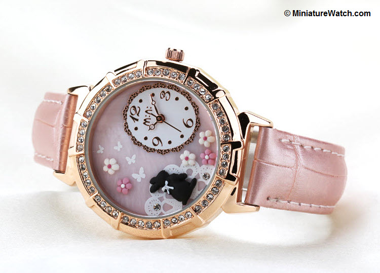 Princess Rabbit Mini Watch Pink 3