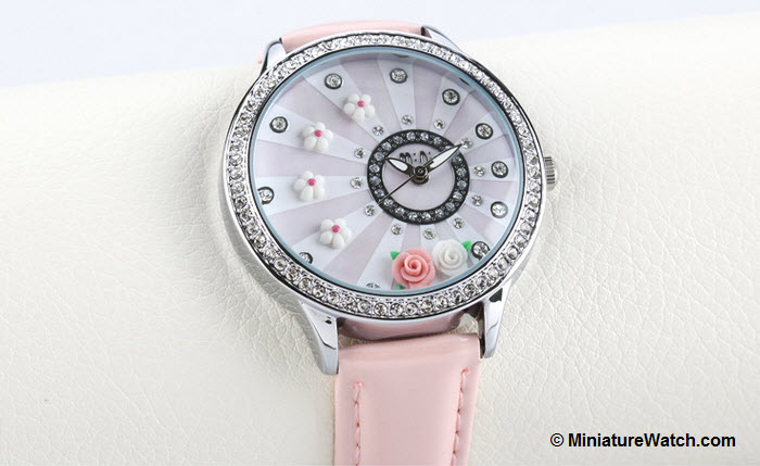 blooming flower mini watch pink 1