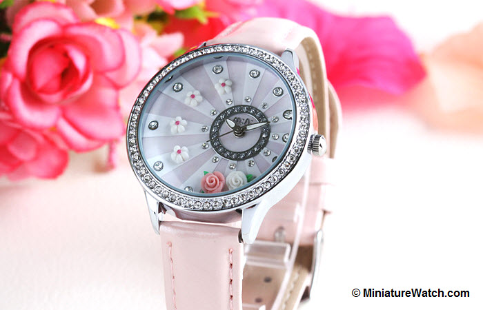 blooming flower mini watch pink 2