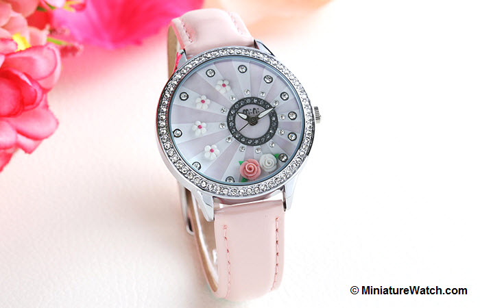 blooming flower mini watch pink 3