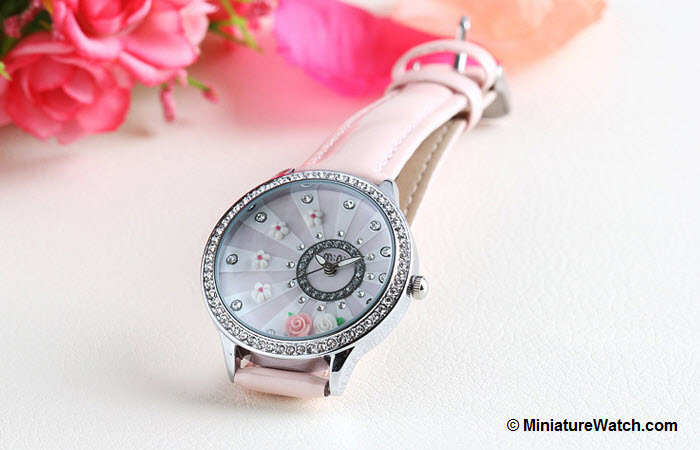 blooming flower mini watch pink 5