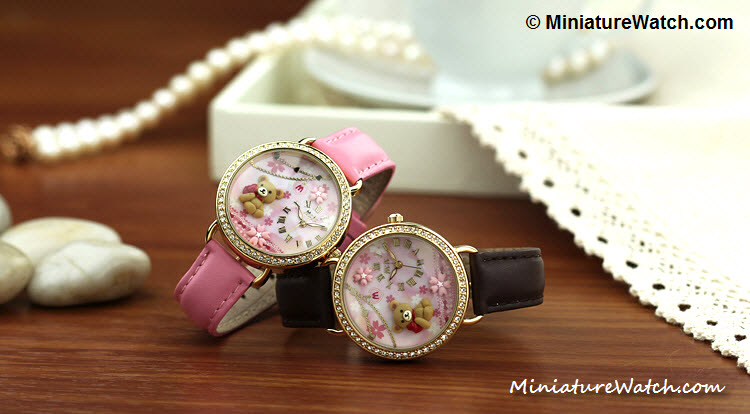 cute teddy bear mini watch 1