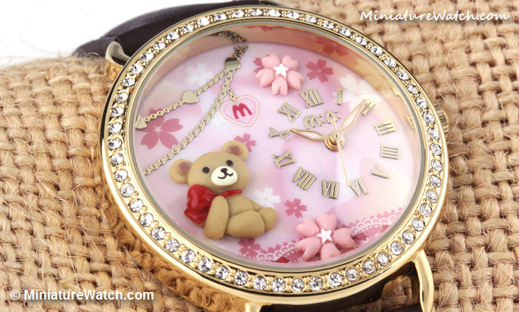 cute teddy bear mini watch 4
