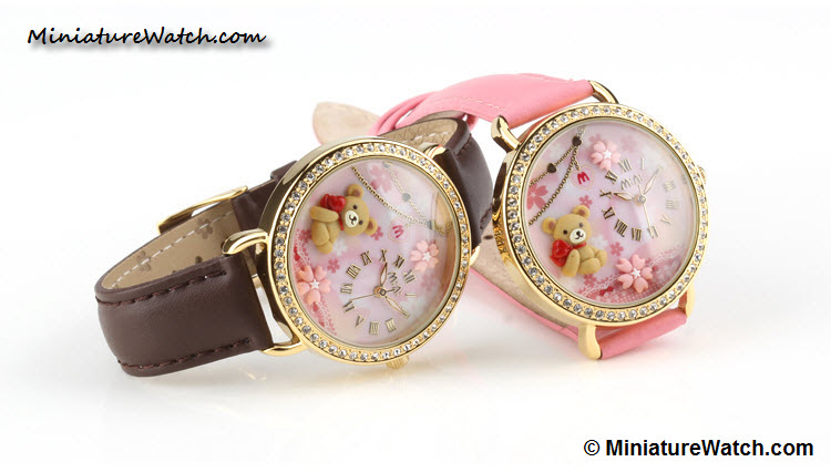 cute teddy bear mini watch