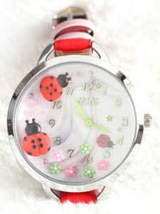 Lovely Ladybugs Mini Watch