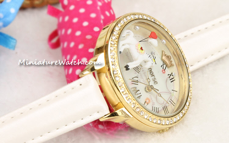 white gold mini horse mini watch 2a