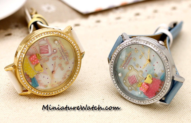 wonderful day double glass mini watch