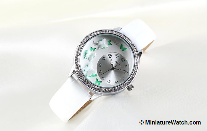 Butterfly Mini Watch White 2
