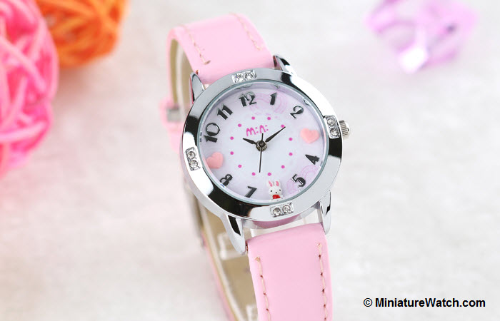 Lovely Bunny Kids Mini Watch Pink 2
