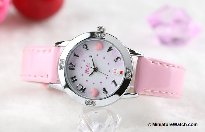 Lovely Bunny Kids Mini Watch Pink 4