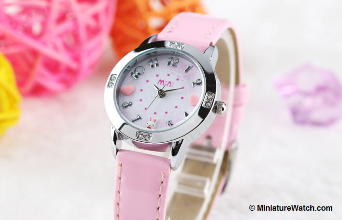 Lovely Bunny Kids Mini Watch Pink