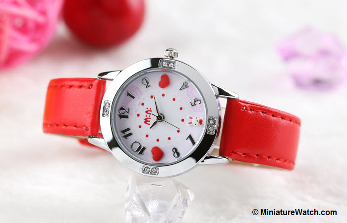 Lovely Bunny Kids Mini Watch Red 3