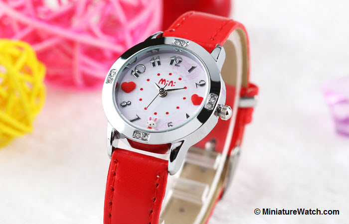 Lovely Bunny Kids Mini Watch Red