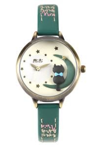 Moon Cat Mini Watch Green thumb