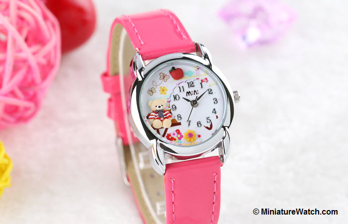 Teddy Garden Kids Mini Watch Pink 1