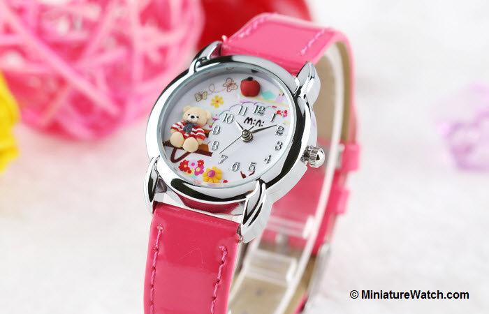 Teddy Garden Kids Mini Watch Pink 2