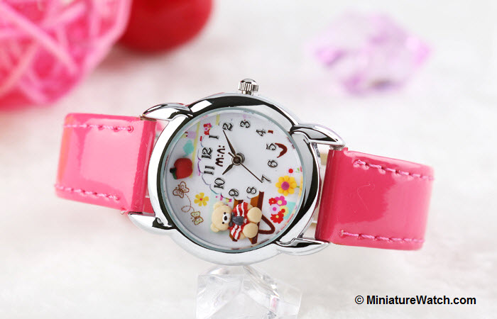 Teddy Garden Kids Mini Watch Pink 3