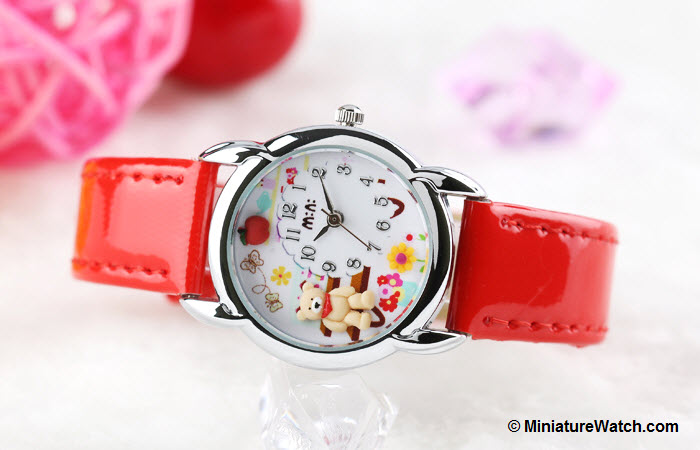 Teddy Garden Kids Mini Watch Red 1