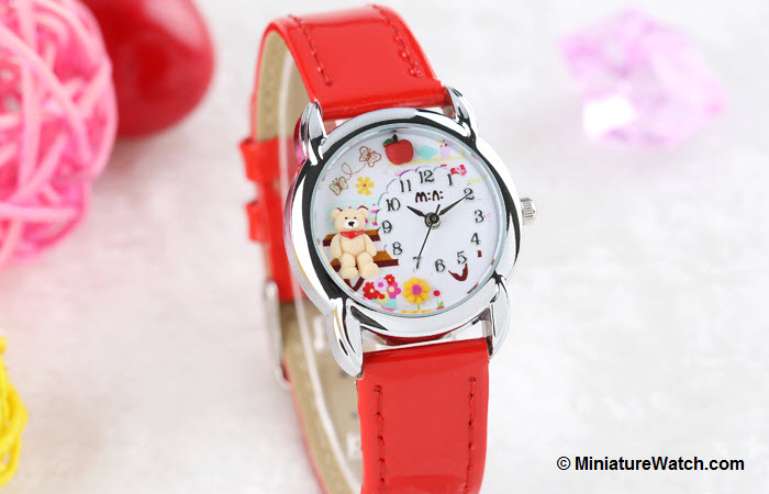 Teddy Garden Kids Mini Watch Red 2