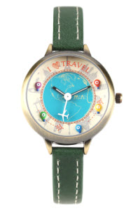 i love travel mini watch green thumb